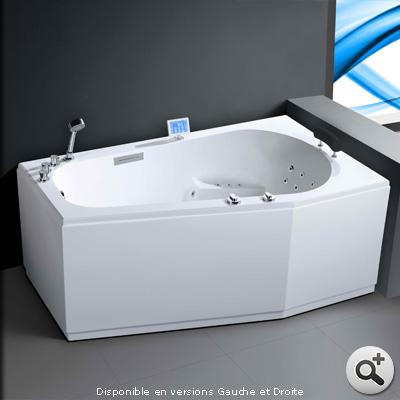 Baignoire baln o pro korus droite thalassor baignoires for Baignoire balneo 170