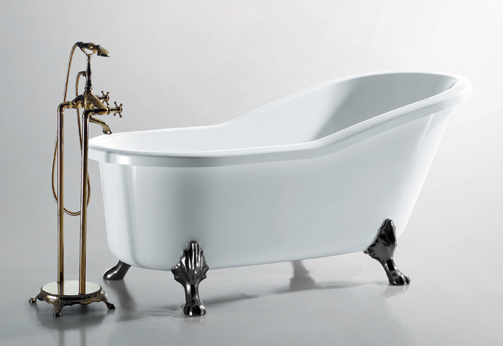 Baignoire lot r tro opera thalassor baignoires ilot for Baignoire sabot sur pied