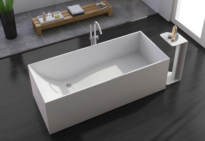 Baignoire lot square thalassor baignoires ilot design en solid surface - Baignoire douche design ...