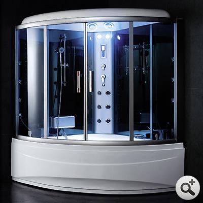 Baignoire douche hammam omega 150 s thalassor fabricant for Baignoire cabine de douche integree
