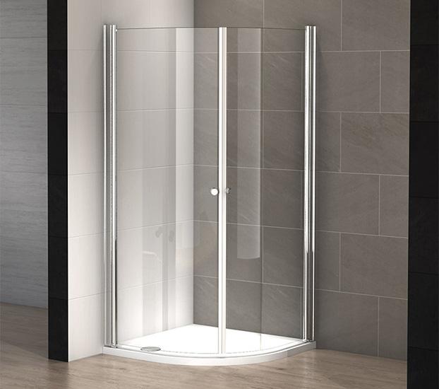 Cabine douche 1 4 de rond glass 90 x 90 cm thalassor - Cabine de douche 200 cm ...