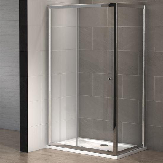 Cabine douche slide 160 x 100 cm thalassor for Paroi douche miroir