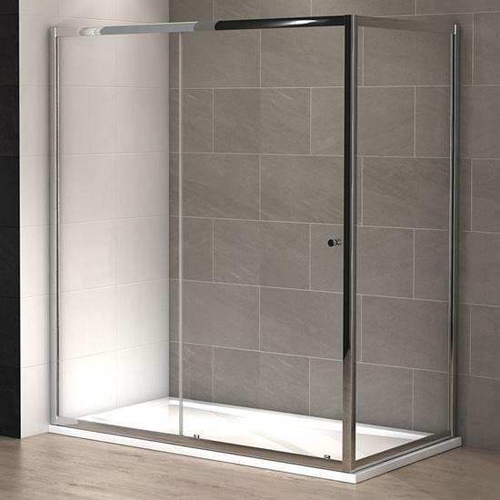Cabine douche slide 180 x 100 cm thalassor - Poser une cabine de douche ...