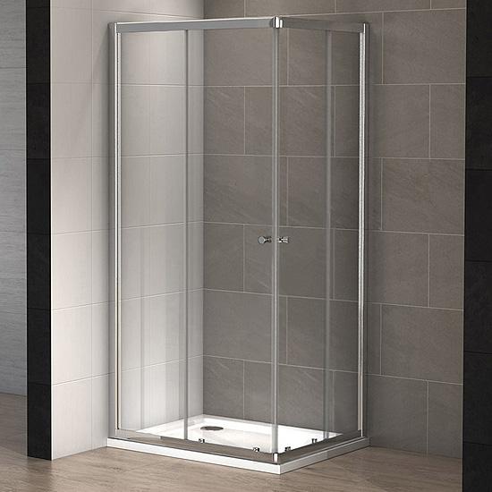 Cabine douche rectangulaire wind 100 x 80 cm thalassor - Paroi de douche 80 ...