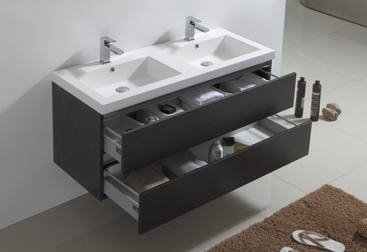 Meuble salle de bain city 120 collection meuble design for Meuble suspendu salle de bain design