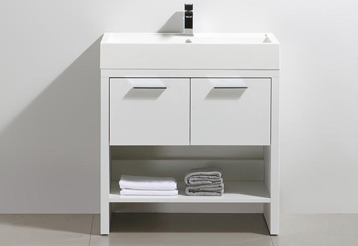 Meuble salle de bain sur pieds KELLY 80 - Collection design Thalassor