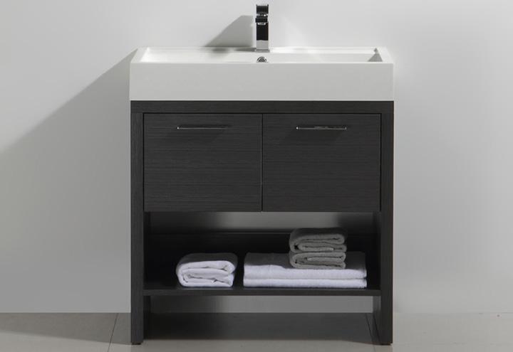 Meuble salle de bain sur pieds kelly 80 collection design thalassor for Hauteur meuble salle de bain sur pied