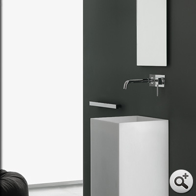 lavabo sur pied monobloc kube thalassor meuble vasque totem en composite. Black Bedroom Furniture Sets. Home Design Ideas