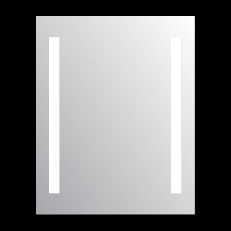 Miroir led salle de bain visio 60 miroir r tro clair for Miroir 50 x 60