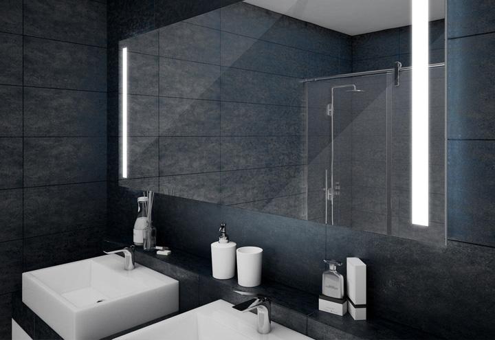 Nouvel Miroir LED salle de bain VISIO 80 - Miroir rétro éclairé IP-54
