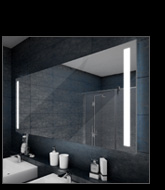 miroir led salle de bain visio 90 miroir r tro clair. Black Bedroom Furniture Sets. Home Design Ideas