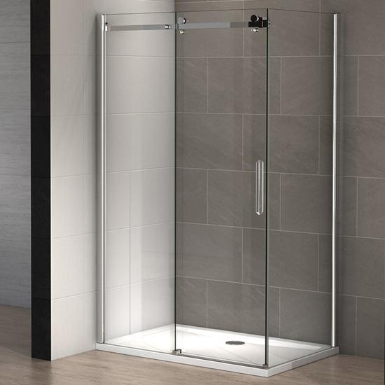 Paroi de douche pure 110 x 80 cm thalassor - Paroi de douche 100 ...