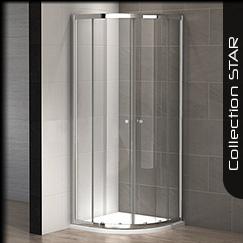 Parois de douche mod les d 39 angle carr s et rectangulaires - Paroi de douche quart de rond ...
