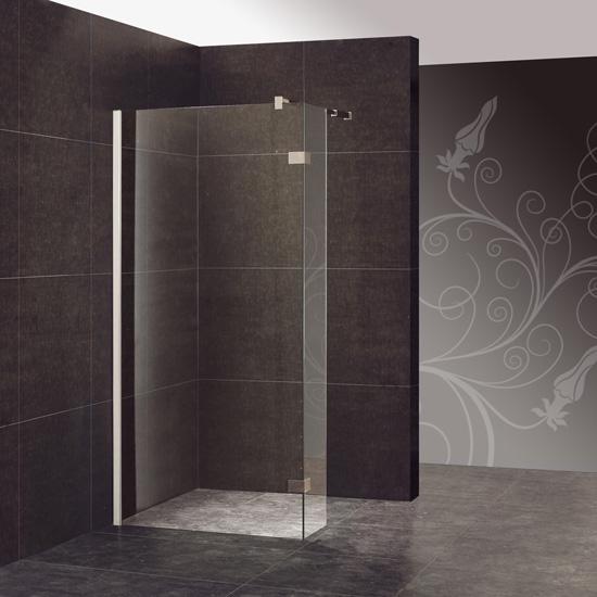 Douche italienne capri thalassor sp cialiste parois en - Poser une paroi de douche fixe ...