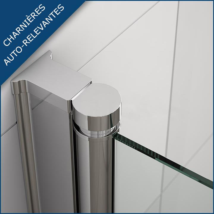 Porte de douche pivotante sina 80 thalassor for Charniere porte de douche