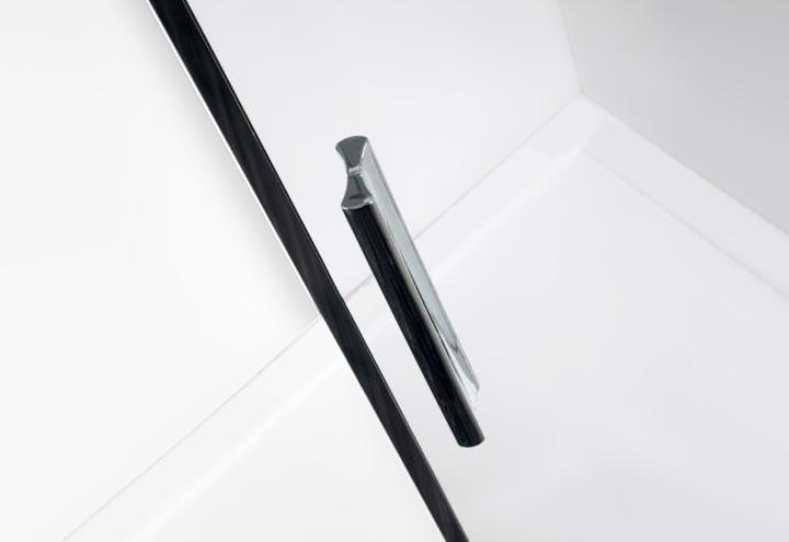 Porte de douche coulissante lumio 140 thalassor - Poignee de porte de douche ...