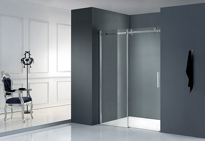 porte de douche coulissante lumio 140 thalassor. Black Bedroom Furniture Sets. Home Design Ideas